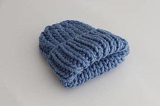 Čiapky - Chunky čiapka vo farbe Cloudy Blue - 12319779_