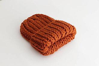 Čiapky - Chunky čiapka vo farbe Cinnamon - 12319848_