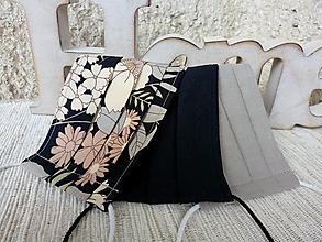 Rúška - Rúška - dámske elegantné - 3 kusy - jednovrstvové - 12319468_