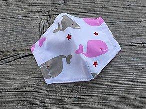 Rúška - XS-detské rúško veľrybky - 12318889_