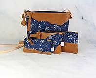 Kabelky - Modrotlačová kabelka Lea kožená 4 - 12318246_