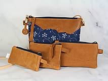 Kabelky - Modrotlačová kabelka Lea kožená 4 - 12318247_