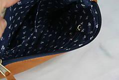Kabelky - Modrotlačová kabelka Lea kožená 4 - 12318249_