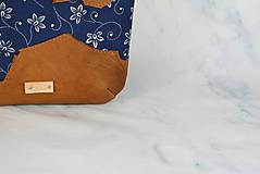 Kabelky - Modrotlačová kabelka Lea kožená 4 - 12318251_