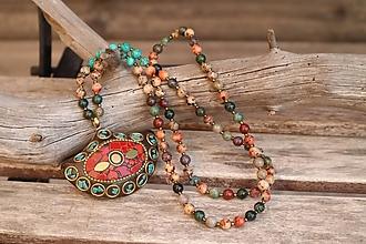 Náhrdelníky - Náhrdelník z  minerálov a s príveskom z Indonézie - 12319600_
