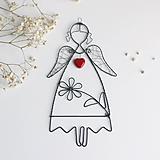 Dekorácie - anjelik s kvetom - 12324251_