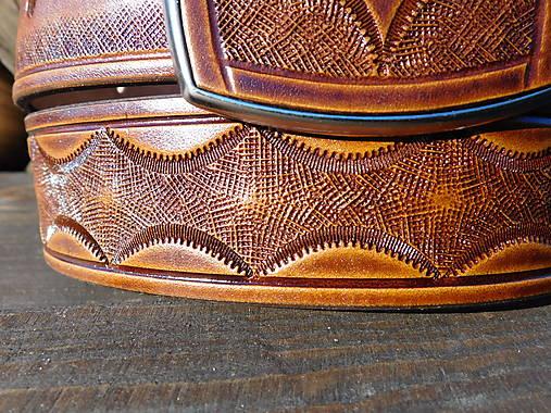 Kožený opasok 4 cm - Ratan