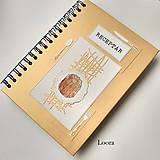 Papiernictvo - Receptár Zlatý s bábovkou A5 - 12324354_