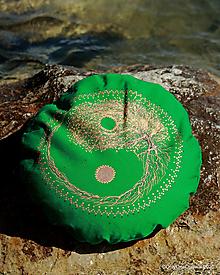 Úžitkový textil - Maľovaný ručne šitý meditačný vankúš SANTULANAM - 12322954_