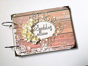 Papiernictvo - Fotoalbum svadobný * svadobný album * kniha hostí A5 - 12323779_