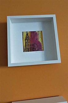 Obrazy - maľba na hodváb -obraz Mestská veža Trnava - 12323652_