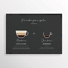 Grafika - KÁVA NA ŽELANIE 2v1, minimalistický print čierny - 12323768_
