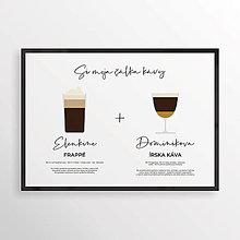 Grafika - KÁVA NA ŽELANIE 2v1, minimalistický print biely - 12323831_