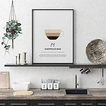 Grafika - KÁVA NA ŽELANIE, minimalistický print biely - 12323904_