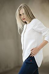 Košele - Lněná košile - 12322998_