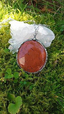 Náhrdelníky - Náhrdelník z jaspisu a chirurgickej ocele - 12323275_