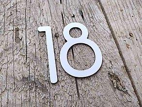 Tabuľky - Popisné číslo: Samostatná číslica Slim z hliníka - 12325291_