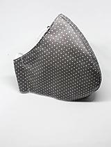 Rúška - Bavlnené rúško na tvár - všetky veľkosti (Pánske biela antibakteriálna bavlna) - 12325656_