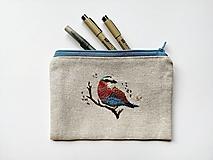 Taštičky - Taštička - pestrofarebný vták - 12323377_