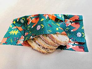 Úžitkový textil - Voskovaný obrúsok - Zaľúbené líšky - 12325804_
