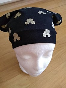 Detské čiapky - Čierna šatka bez šiltu - 12323101_