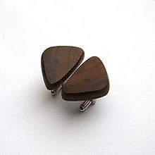 Šperky - Drevené manžetové gombíky - orechové kúsky - 12325243_