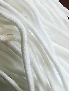 Galantéria - Mäkká 3mm klobúkova guma vhodná na rúška - 12326039_
