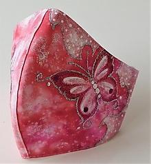 Rúška - RÚŠKO ručne maľované - Motýľ III. - 12328970_