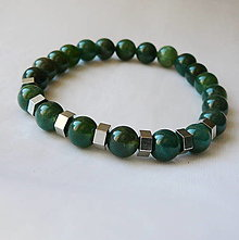 Šperky - Náramok machový achát - 12326147_