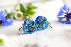 Náušnice - Náušnice Modrá prvosienka srdcia 2887 A CHO - 12326939_