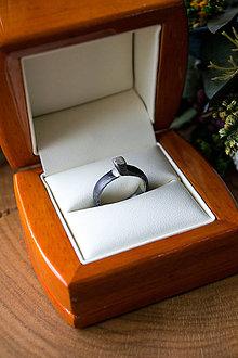Prstene - Damaškový prsteň Silver Moon - 12326119_