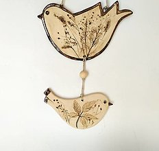 Dekorácie - Dekorácia - keramické vtáčiky - naturálne - 12328546_