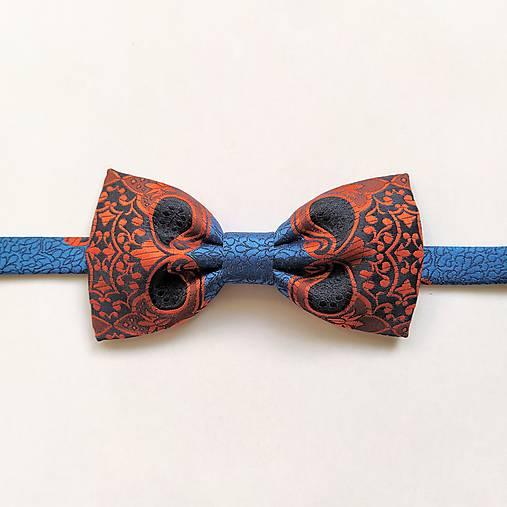Motýlik modro-oranžový ornamentový II.