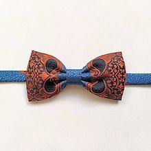 Doplnky - Motýlik modro-oranžový ornamentový II. - 12326661_