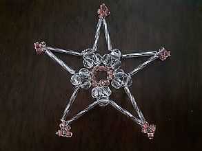 Dekorácie - vianočné ozdoby sklenené - 12327818_