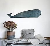 Dekorácie - Drevená veľryba - 12327415_
