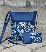 Kabelky - Modrotlačová kabelka Molly modrá 5 - 12326101_