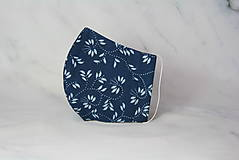 Rúška - Modrotlačové rúško 2-vrstvové DÁMSKE - 12326300_