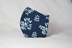 Rúška - Modrotlačové rúško 2-vrstvové DÁMSKE - 12326318_