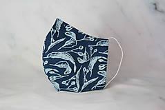 Rúška - Modrotlačové rúško 2-vrstvové pánske - 12326361_