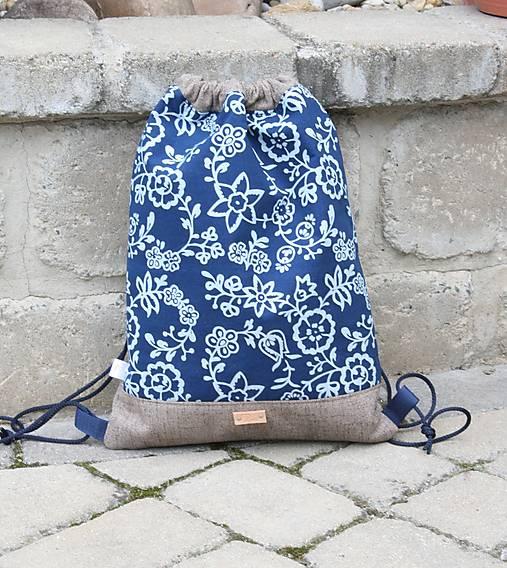 modrotlačový batoh Lesana 23