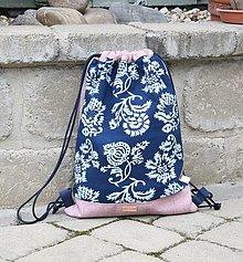 Batohy - modrotlačový batoh Lesana 21 - 12326109_