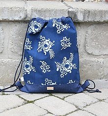 Batohy - modrotlačový batoh Lesana 22 - 12326126_