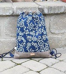 Batohy - modrotlačový batoh Lesana 23 - 12326138_