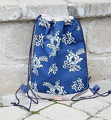 Batohy - modrotlačový batoh Lesana 24 - 12326142_