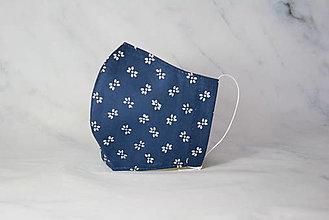 Rúška - Modrotlačové rúško 2-vrstvové DÁMSKE - 12326289_