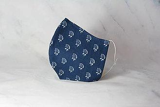 Rúška - Modrotlačové rúško 2-vrstvové DÁMSKE - 12326297_
