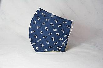 Rúška - Modrotlačové rúško 2-vrstvové DÁMSKE - 12326303_