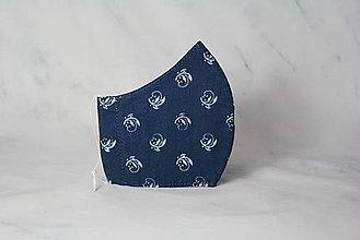 Rúška - Modrotlačové rúško 2-vrstvové junior - 12326325_
