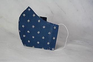 Rúška - Modrotlačové rúško 2-vrstvové junior - 12326326_